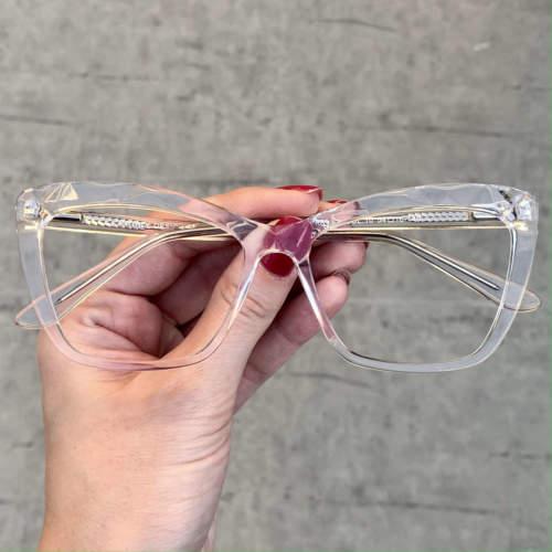 oticagriss oculos de grau gatinho transparente 195