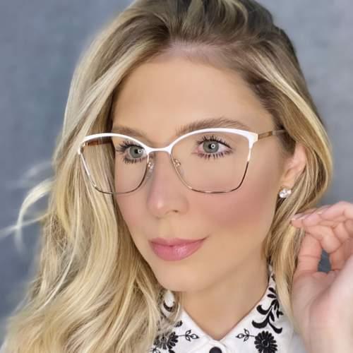 oticagriss oculos de grau quadrado branco 202