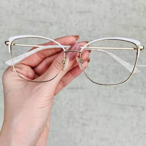 oticagriss oculos de grau quadrado branco 203 2