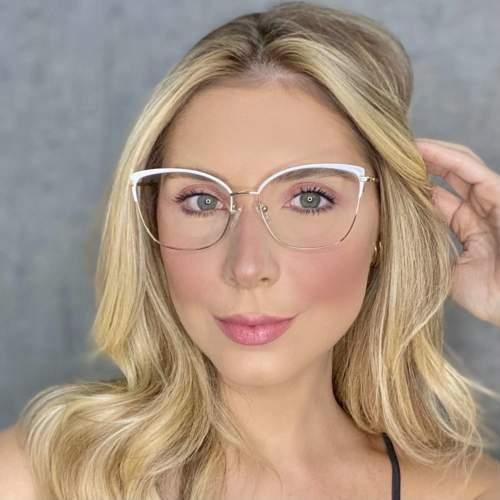 oticagriss oculos de grau quadrado branco 203