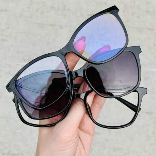 oticagriss oculos clip on preto 197