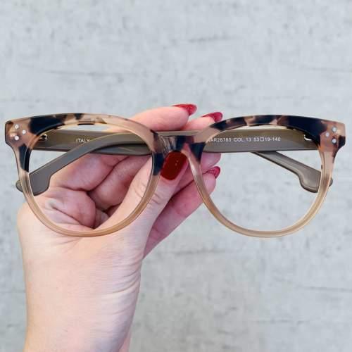 oticagriss oculos de grau retangular nude 209