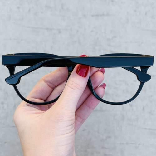 oticagriss oculos de grau retangular preto 209 1