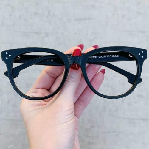 oticagriss oculos de grau retangular preto 209
