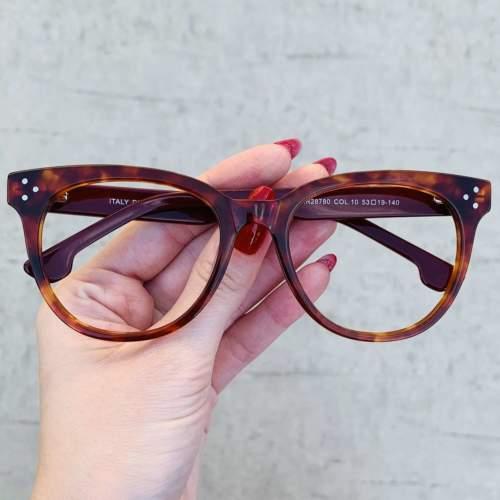 oticagriss oculos de grau retangular rajado 209