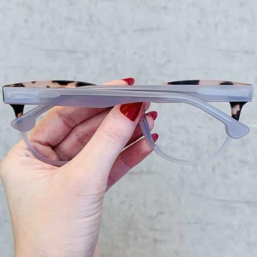 oticagriss oculos de grau retangular transparente com tartaruga 209 1