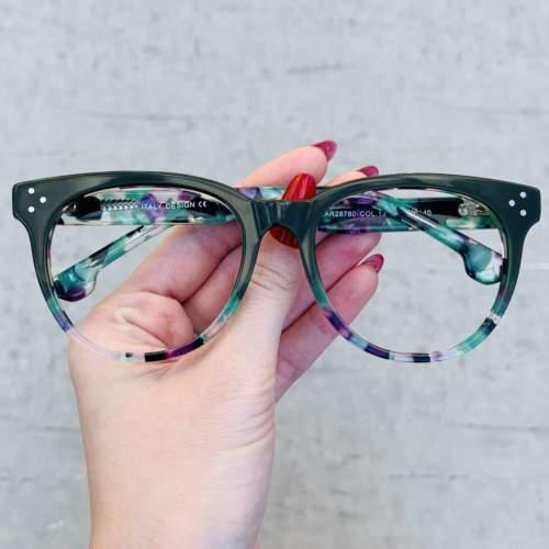 oticagriss oculos de grau retangular verde 209